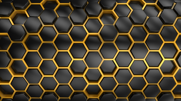 VideoHive Background From Hexagons 21252257