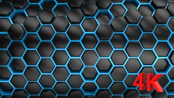 VideoHive Background From Hexagons 21252270