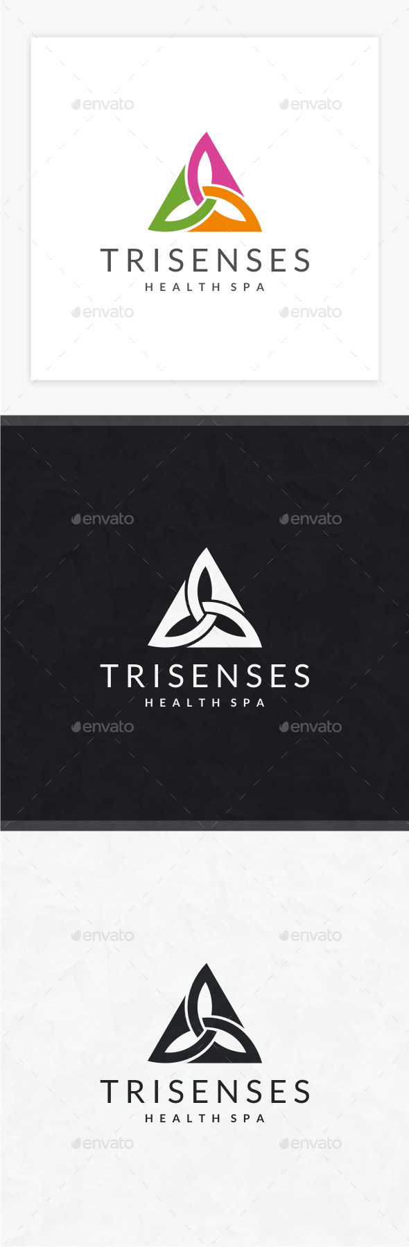 Trisenses Logo - Symbols Logo Templates