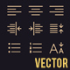 Document Text Editing Vector Line Icons