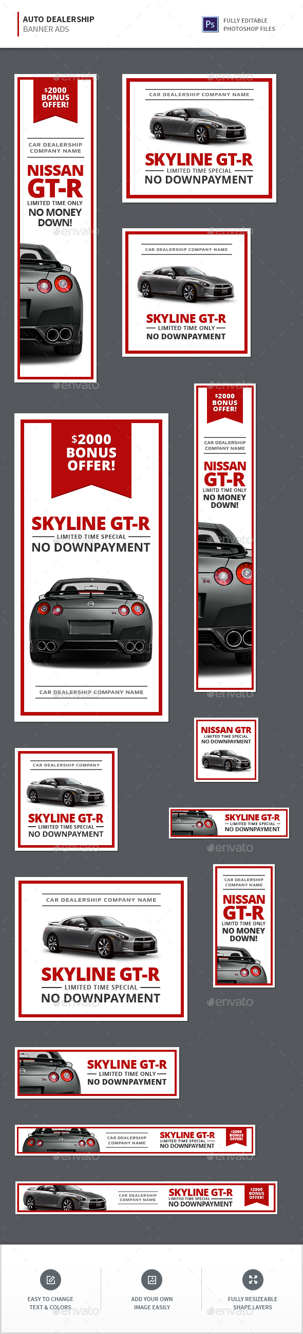Auto Dealership Banners - Banners & Ads Web Elements