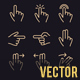 Finger Gesture Vector Line Icon for app and mobile website responsive - GraphicRiver Item for Sale