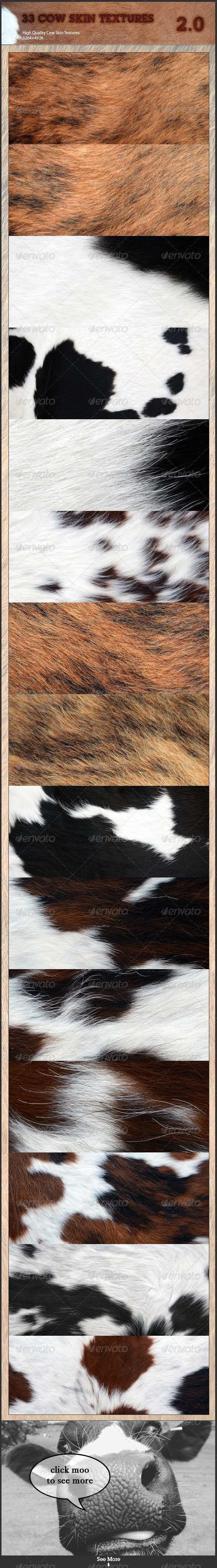 Cow Skin Pack 2 - Fabric Textures