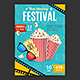 Cinema Movie Festival Placard Banner Card - GraphicRiver Item for Sale