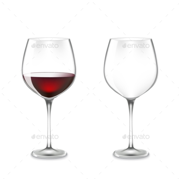 Transparency Wine Glass - Food Objects