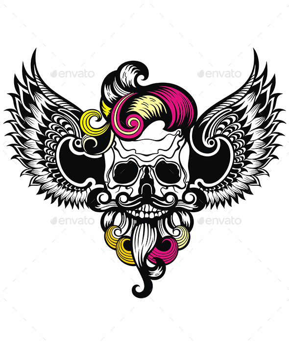 Skull With a Wings - Miscellaneous Vectors