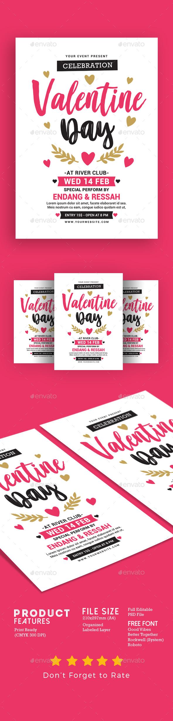 Valentine Day Celebration - Events Flyers
