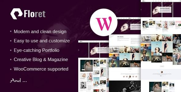 ThemeForest Floret Creative Multipurpose WordPress Theme 20995819
