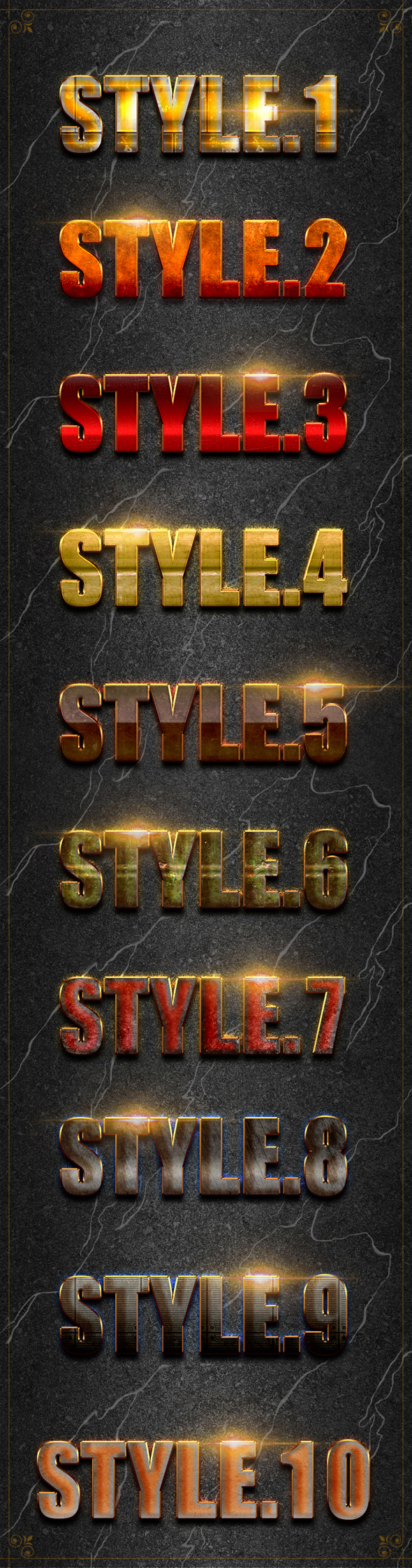 10 3D Text Styles D_52 - Text Effects Styles