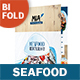 Seafood Restaurant Bifold / Halffold Menu 3 - GraphicRiver Item for Sale