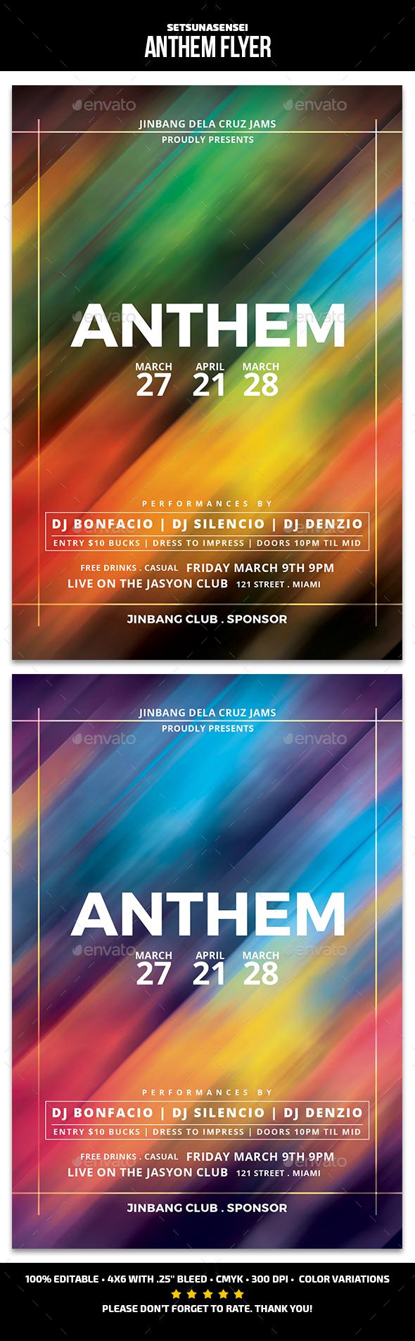 Anthem Flyer - Events Flyers