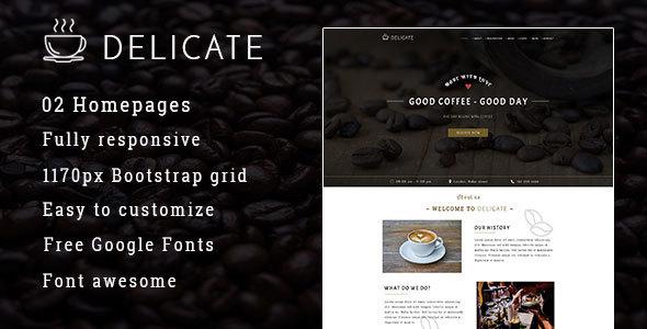 Delicate | Multipurpose Coffee Restaurant HTML Template
