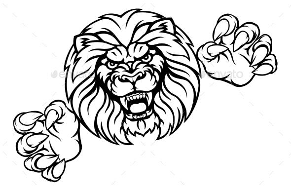 Lion Animal Sports Mascot - Sports/Activity Conceptual