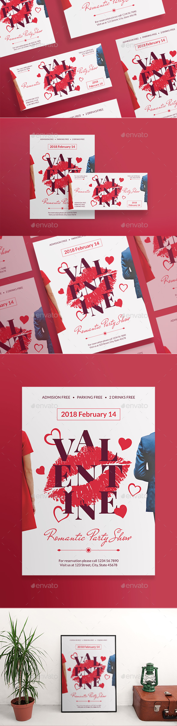 Valentine's Day Party Flyers - Holidays Events