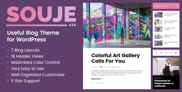 Souje - Useful Blog Theme for WordPress