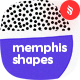 Seamless Patterns Circle Shapes in Memphis Style Backgrounds