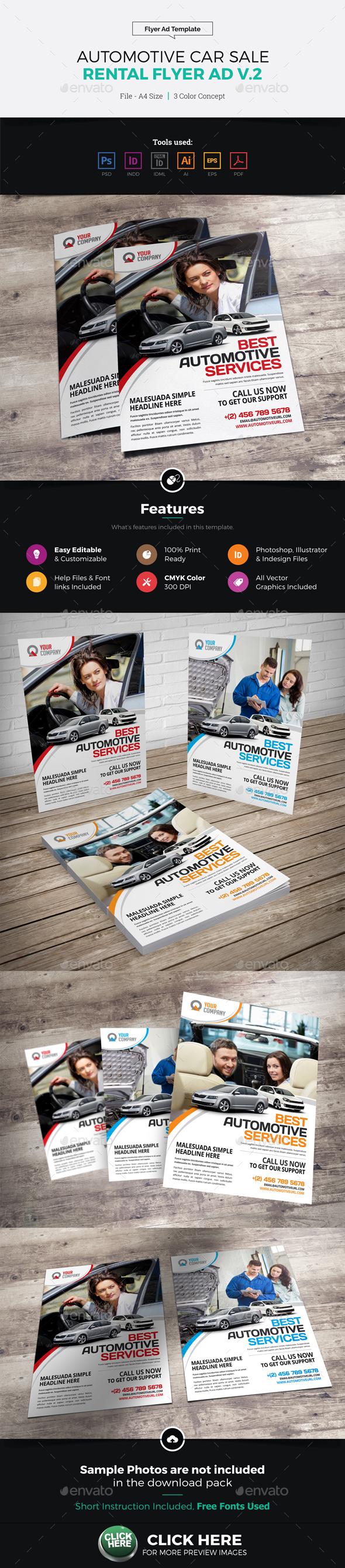 Automotive Car Sale Rental Flyer Ad v2 - Corporate Flyers