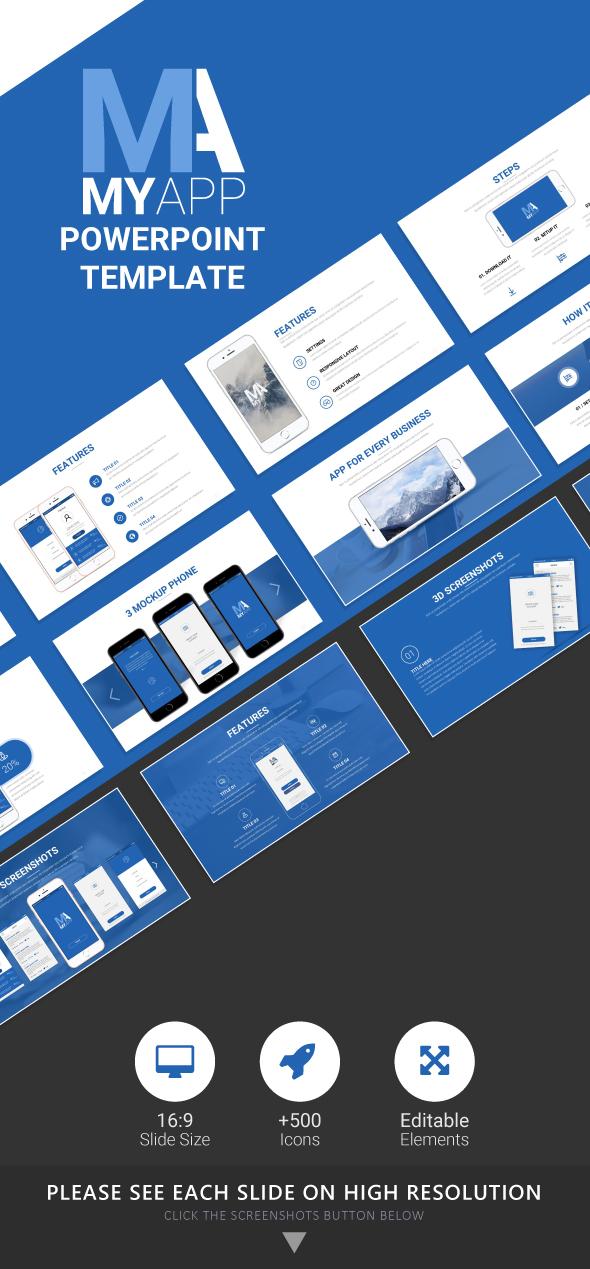 MyApp Google Slides Template - Google Slides Presentation Templates
