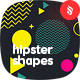 Abstract Hipster Geometric Shapes in Memphis Style Design Backgrounds - GraphicRiver Item for Sale