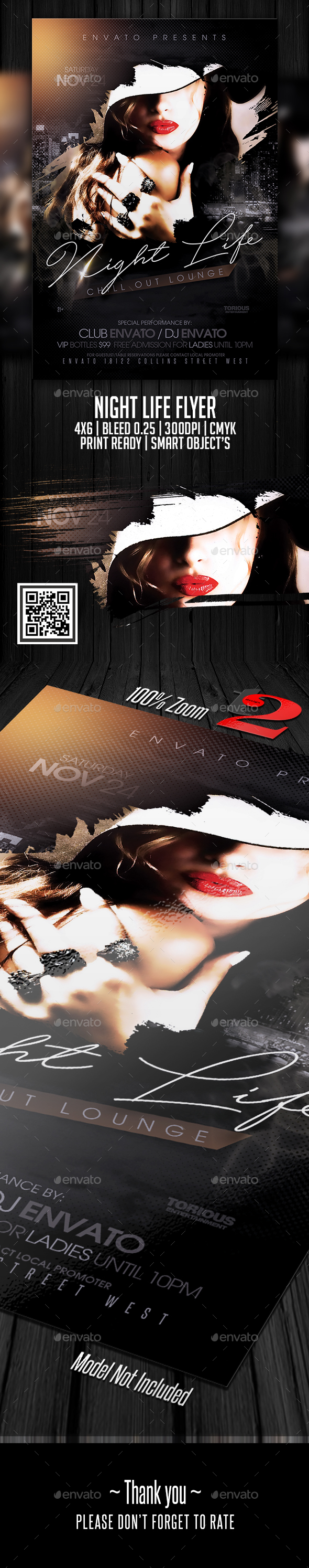 Night Life Flyer Template - Clubs & Parties Events