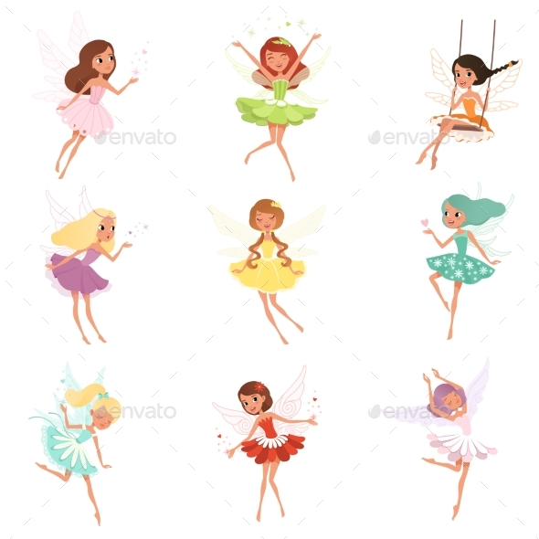Collection of Fairies - People Characters