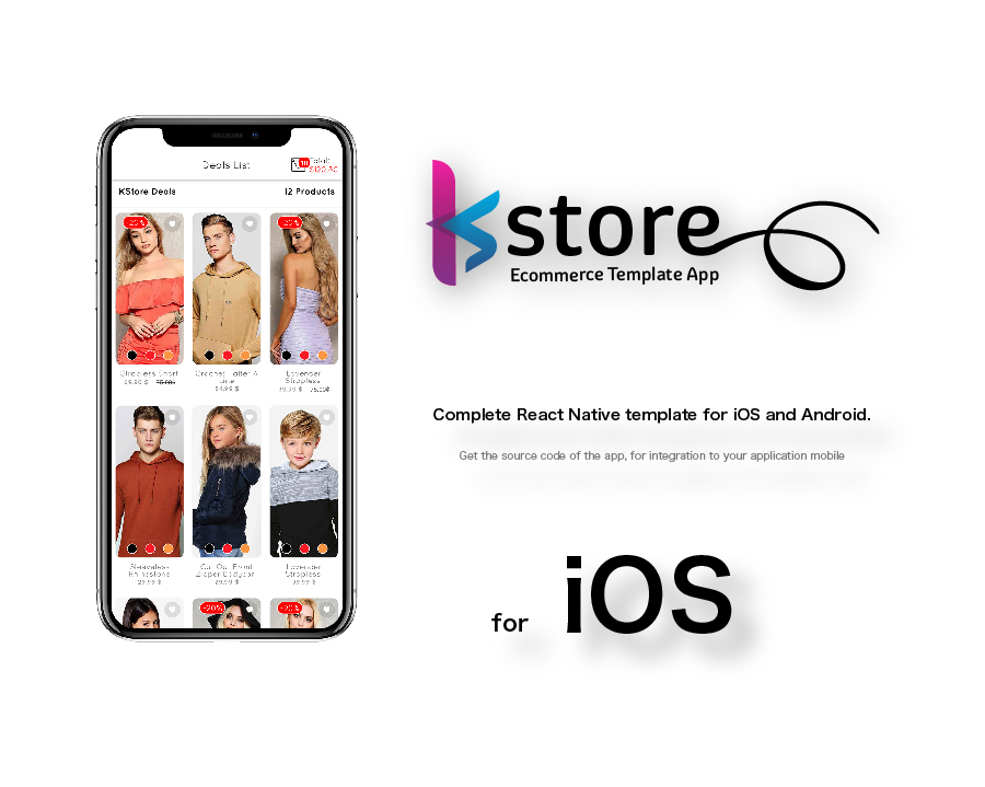 KStore - Complete React Native template for iOS and Android