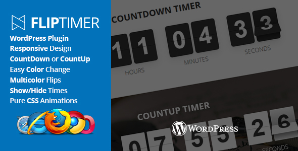 CodeCanyon FlipTimer jQuery Countdown Timer WordPress Plugin 21253343