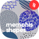 Abstract Seamless Patterns Circle Shapes in Memphis Style Backgrounds
