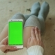 A Smartphone Green Screen Hands Woman - VideoHive Item for Sale