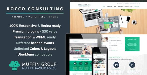Rocco Flat WordPress Theme - Business Corporate