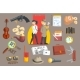 Detectives and Their Equipment Objects Set - GraphicRiver Item for Sale