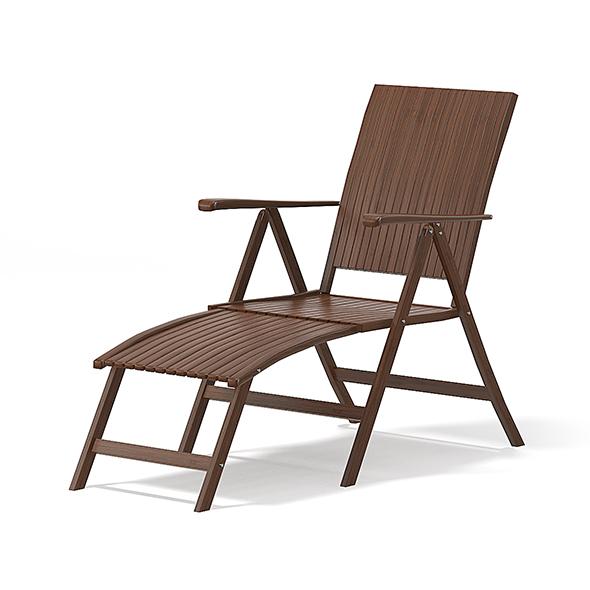 Wooden Sunbed 3D Model - 3DOcean Item for Sale
