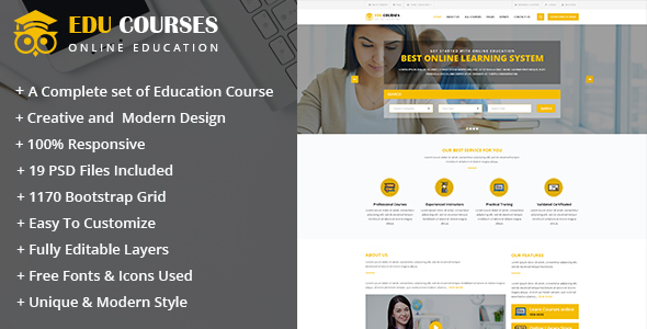 Edu Course Html Template