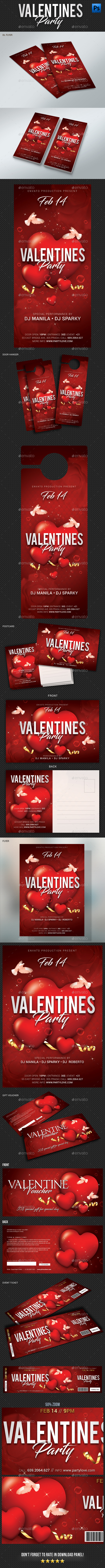 Valentines Day Pack Bundle - Events Flyers