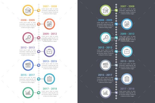 timeline vertical graphics designs templates