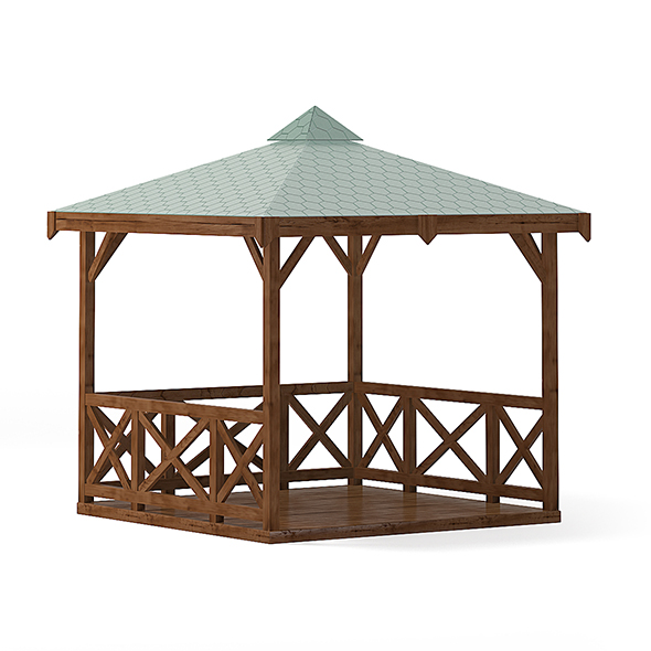 Garden Gazebo 3D Model - 3DOcean Item for Sale