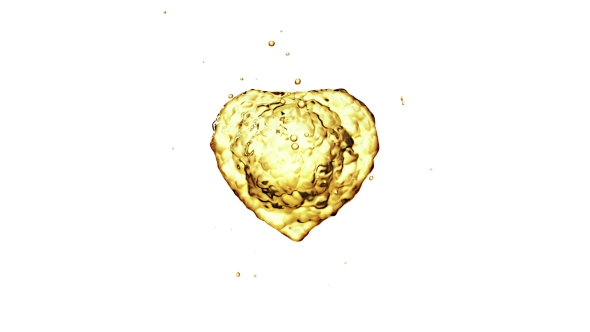 VideoHive Oil Splash in the Form of a Heart 21253697