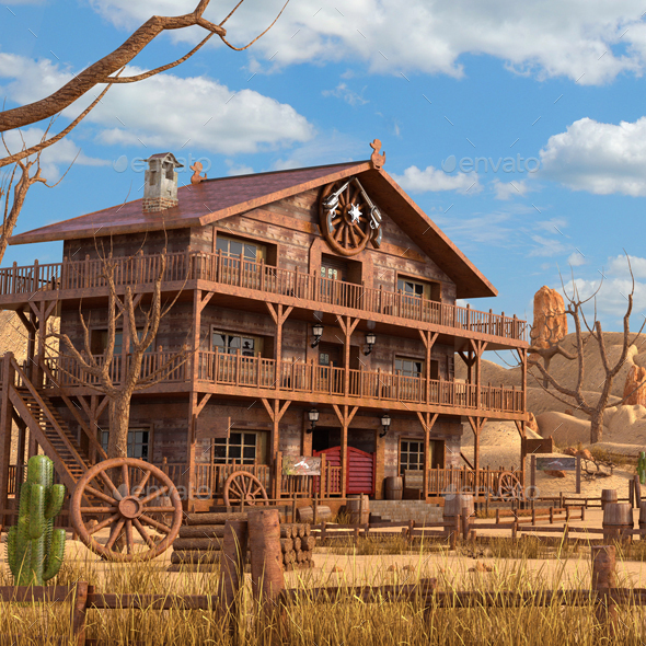 Western Environment - Architecture 3D Renders