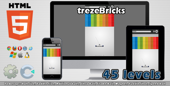 trezeBricks - HTML5 Casual Game - CodeCanyon Item for Sale