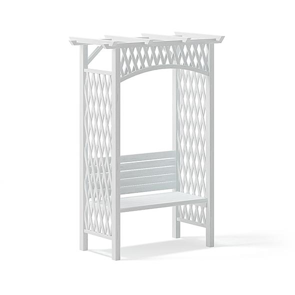 Garden Pergola with Bench 3D Model - 3DOcean Item for Sale
