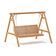 Wooden Garden Swing Chair 3D Model