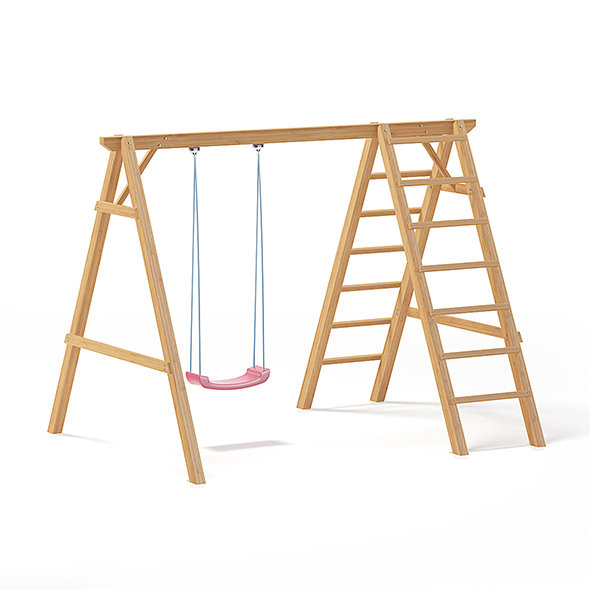 Children Swing with a Ladder 3D Model - 3DOcean Item for Sale