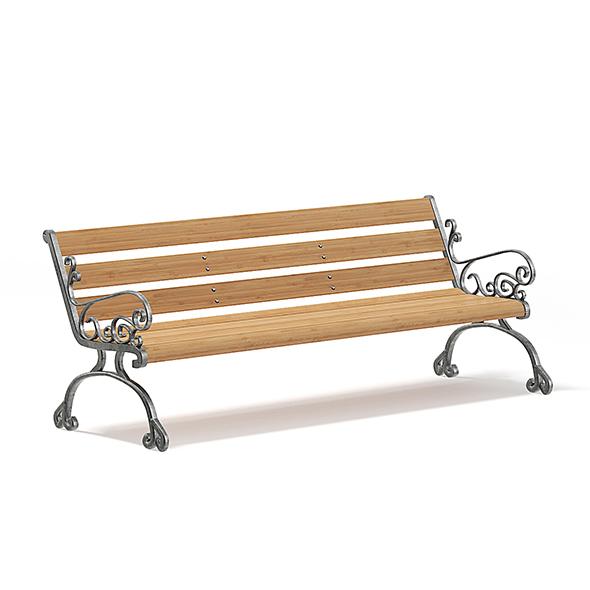 Garden Bench 3D Model - 3DOcean Item for Sale
