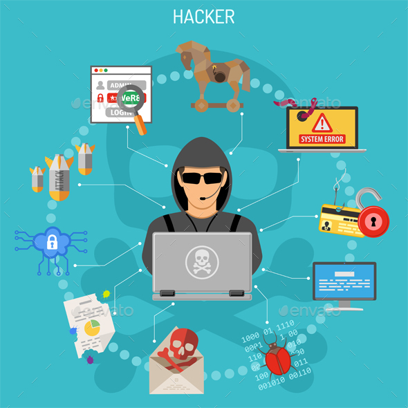 Cyber Crime Concept with Hacker - Computers Technology