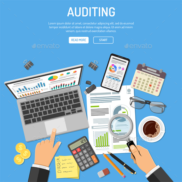 Auditing Tax Process Accounting Concept - Concepts Business