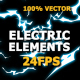 ELECTRIC Elements And Transitions - VideoHive Item for Sale