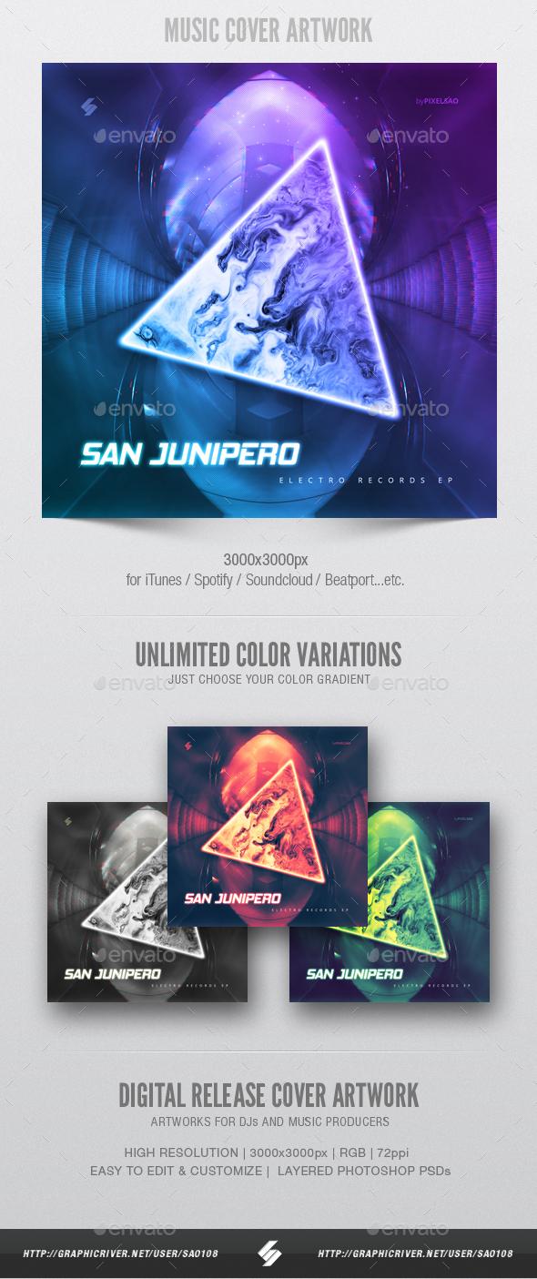 San Junipero - Music Cover Artwork Template - Miscellaneous Social Media