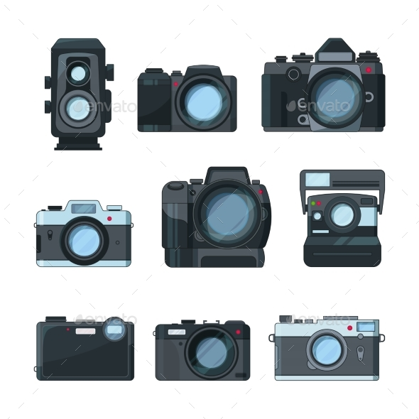 DSLR Photo Cameras - Man-made Objects Objects