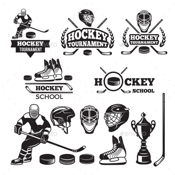 Sport Labels for Hockey Team - Sports/Activity Conceptual