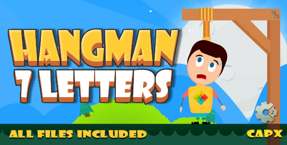 Hangman 7 letter - (HTML5 & CAPX + Admobs) Game - CodeCanyon Item for Sale